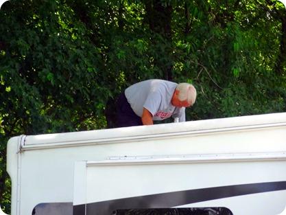 Paul on roof