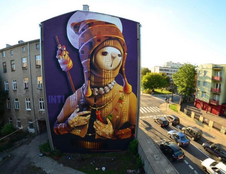 Street Art In Lodz Poland Amusing Planet