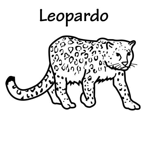 DIBUJOS DE LEOPARDOS PARA COLOREAR | Dibujos para colorear