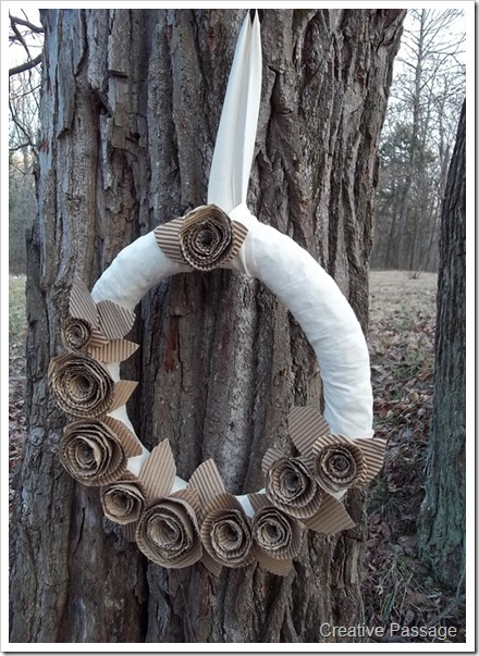 cardboard rose wreath