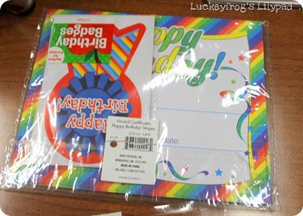 Luckeyfrog's Lilypad- student birthdays