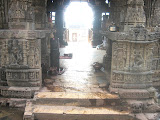 North entrance of the mandapa is flanked by two goddesses on either side. There is a ekmukhi lingam inside the mandapa.