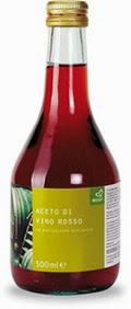 Aceto di vino rosso con tappo a vite
