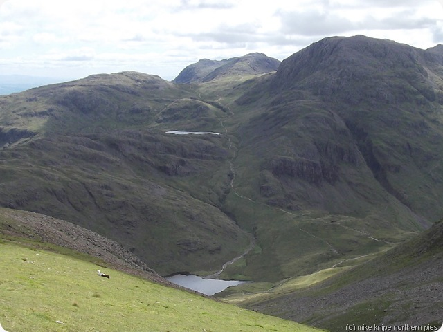styhead and sprinkling tarns