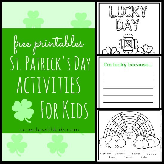 St Patricks Day Activities for Kids - free printables
