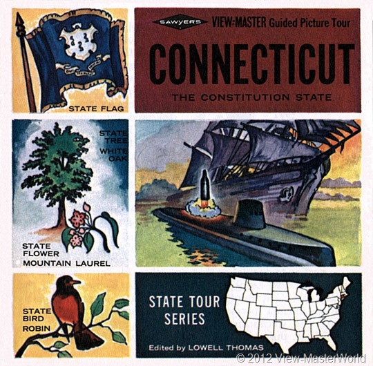 View-Master booklet cover Connecticut (A750)