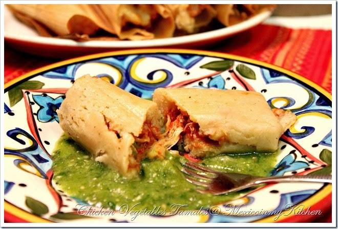 Tamales de pollo con verduras4a