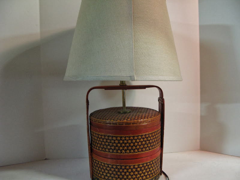 Asian Basket Table Lamp