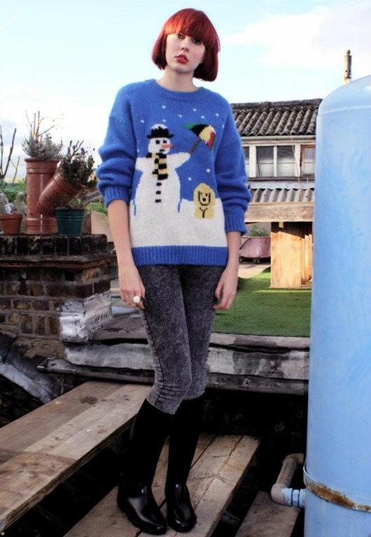 Christmas Novelty Snowman Jumper, £45, Bird On A Wire