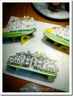 Custom Wood House Ornaments