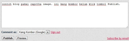 komentar blogspot dengan captcha image
