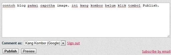 komentar blogspot dengan captcha image