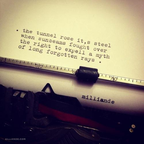Typewriter spills poetic glimpses milliande 5