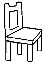 Dibujo de silla para pintar for Sillas para dibujar facil