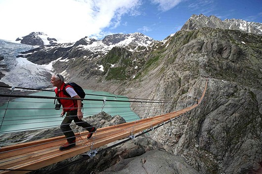 APTOPIX Switzerland New Hiking Bridge