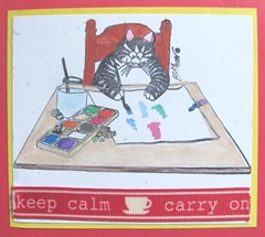 kliban cat watercoloring keep calm and carry on2