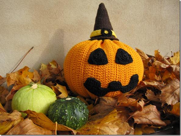 Hæklet Halloween Græskar Crochet Haloween Pumpkin 1