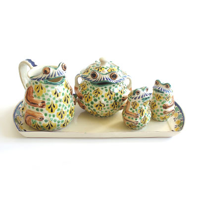 Add some personality to your table with this quirky tea set. (emiliaceramics.com)
