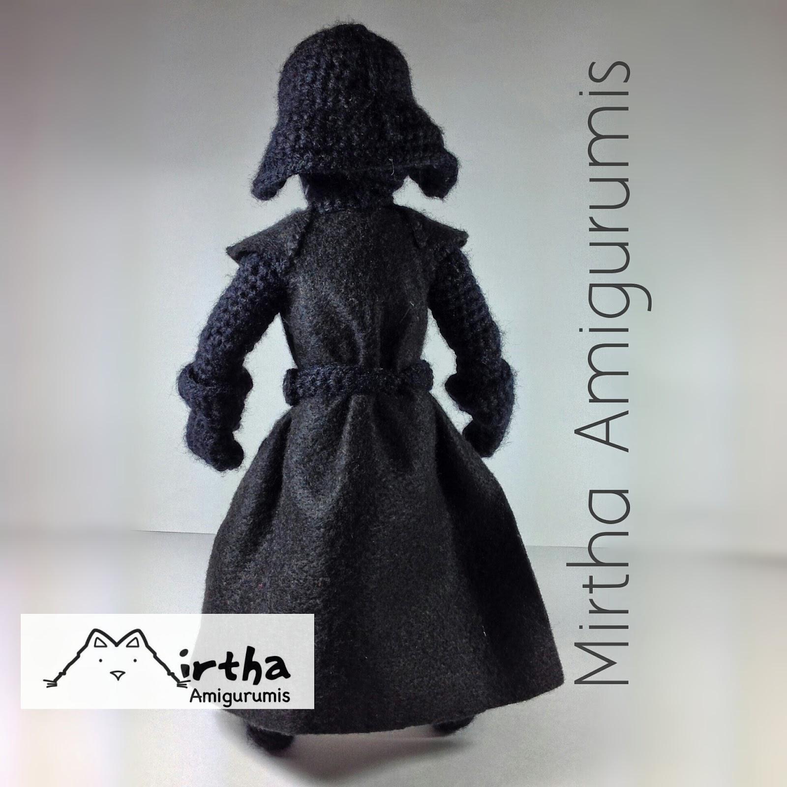 Amigurumi Snake Pattern Free : Mirtha Amigurumis: Darth Vader Amigurumi star wars (NOT ...