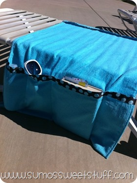 Pool Chair Organizer - www.sumossweetstuff.com #sewing