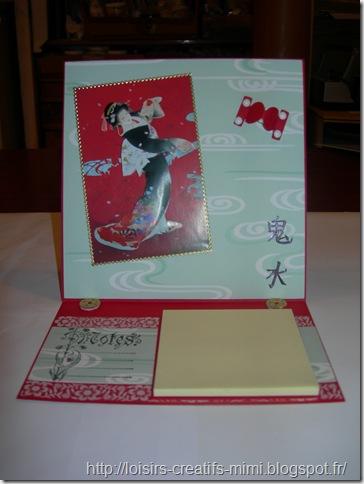 carte chevalet post-it  geisha