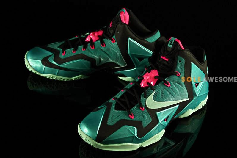 e406ef3b283f Nike LeBron XI 8220South Beach8221 Release Date 616175330 ...