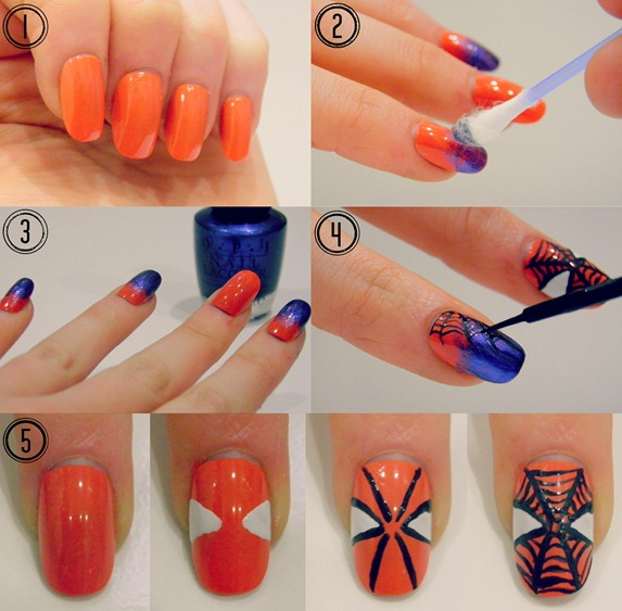 Amazing Spiderman nail tutorial