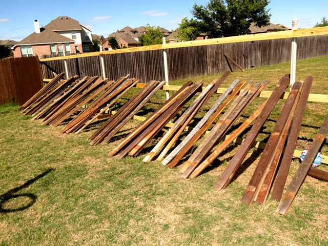 Style with cents how to build a new fence using old