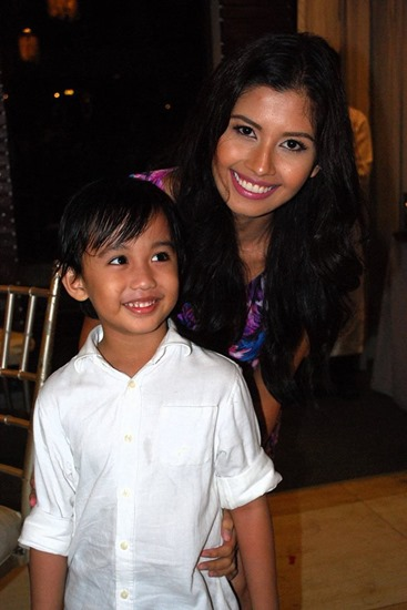 grandson Gabriel with Miss Universe Shamcey Supsup