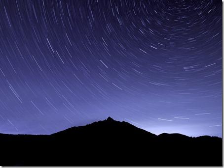 オタドマリ沼から見た星