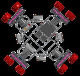 Quad Drive Holomonic Platform CAD View