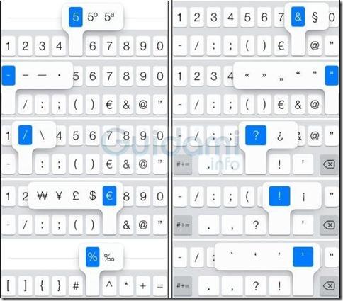 Simboli tasti numeri e simboli iOS