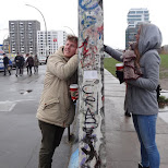 seperated by the Berlin Wall in Berlin, Berlin, Germany