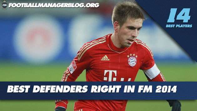 Best Players in Football Manager 2014 Defenders Right