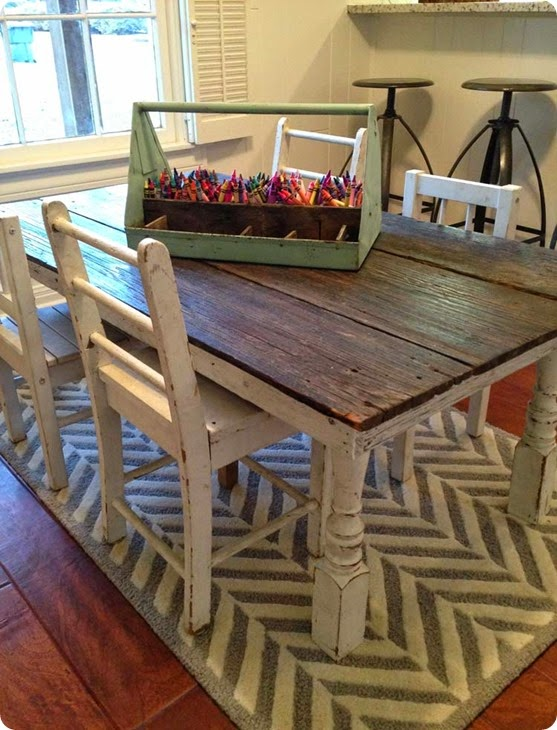 kids farm table