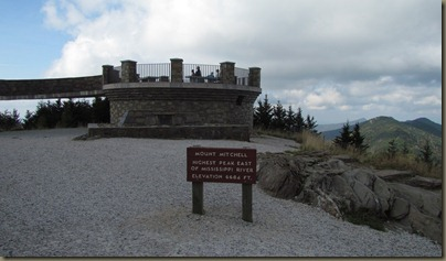 overlook at Mt Mitchell 6684 ft elevation