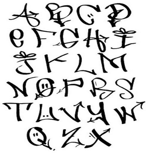 Graffiti letters a z fancy calligraphy alphabet