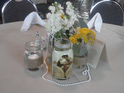 The Blooming Bride, DFW, Fort Worth, Texas, Wedding Flowers, Vinegar Jar, Mason Jar
