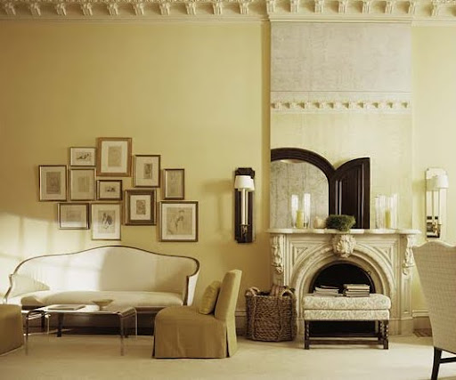 A white-chocolate room. (Designed by Tom Scheerer)
