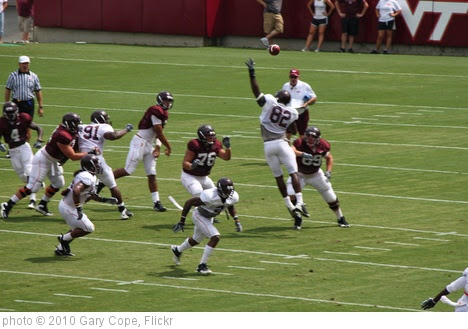 'Logan Thomas throws over Steven Friday' photo (c) 2010, Gary Cope - license: https://creativecommons.org/licenses/by-nd/2.0/
