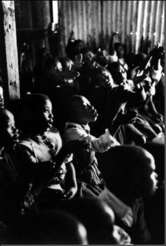 BENONI, South Africa — A school for black Africans in a corrugated iron shed, 1961.
