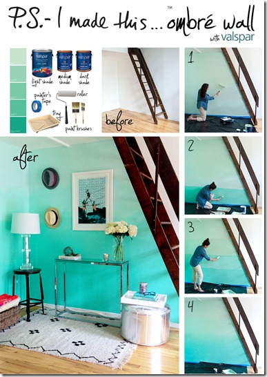 Paint An Ombre Wall Just Paint It Blog - Ombre wall painting technique