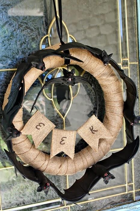 Circle of Bats Halloween Wreath