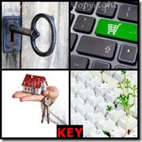 KEY- 4 Pics 1 Word Answers 3 Letters
