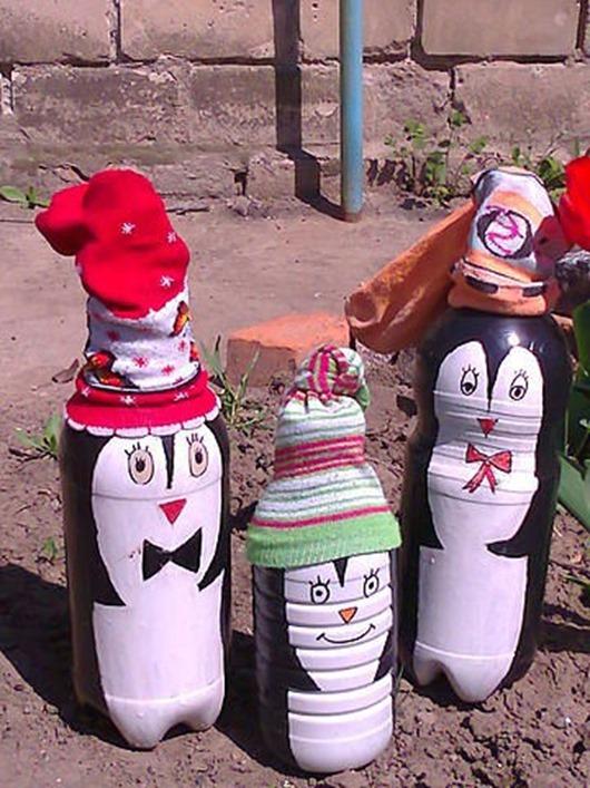 Бутылки поделки для дачи