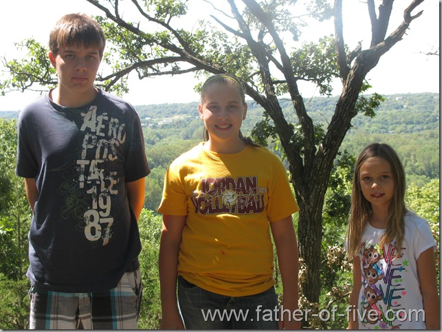 Ney Nature Center - The kids with the scenic overlook behind them.  This photo does not do the scene justice!