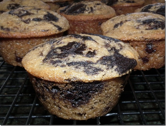 Chocolate Banana Marble Muffins from Crumbs Blog 9-13-11