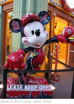 'Mickey Mouse St. Louis Cardinals All-Star Games Statue in Downtown Disney' photo (c) 2010, Loren Javier - license: http://creativecommons.org/licenses/by-nd/2.0/