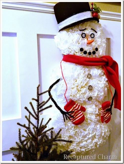 coffee filter snowman 33
