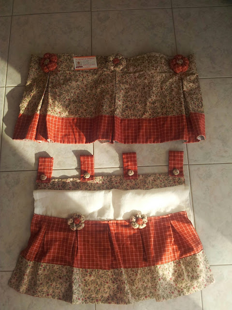 Le creazioni di antonella tendine dietrovetri con for Mantovane per tende stile country